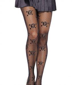 net skull stockings